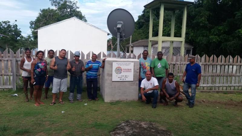 Inclusão Digital: Cinco escolas quilombolas de Oriximiná passam a ter sistema de internet via satélite