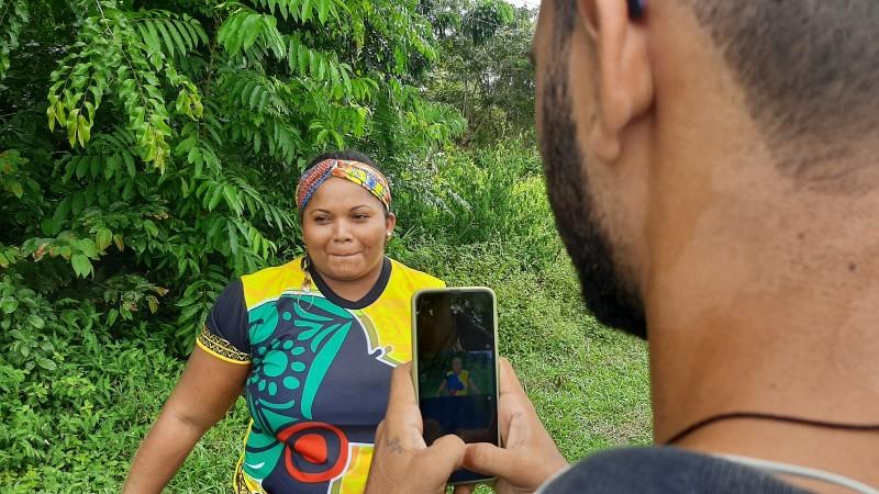Jovens quilombolas de Oriximiná produzem conteúdo audiovisual alusivo ao Dia da Mulher