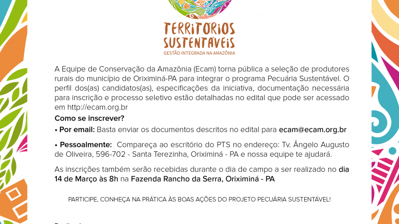 Piloto do Pecuária Sustentável terá aumento no número de vagas em Oriximiná