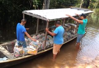 Ecam Projetos Sociais entrega mais de 2 mil cestas básicas no Projeto Quilombo Solidário