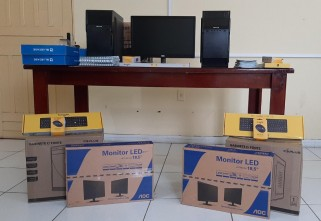 Ecam Projetos Sociais realiza doação de computadores para apoio ao enfrentamento da Covid-19 em Santarém