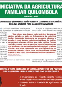 Jornal da Iniciativa da Agricultura Familiar Quilombola (Fevereiro-Abril)