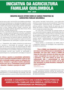 JORNAL DA INICIATIVA DA AGRICULTURA FAMILIAR QUILOMBOLA (MAIO-JULHO)